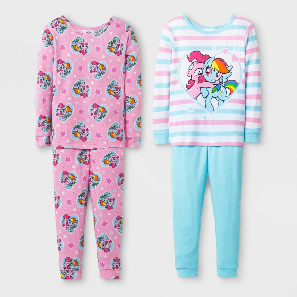 Toddler Girls' 4pc My Little Pony Pajama Set - White 4T