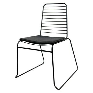 Wire Stacking Dining Chair Black