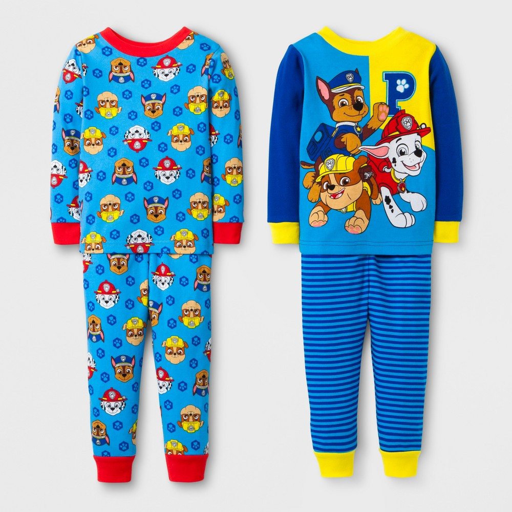 Toddler Boys 4pc Paw Patrol Pajama Set - Navy 12M, Size: 12 M, Blue