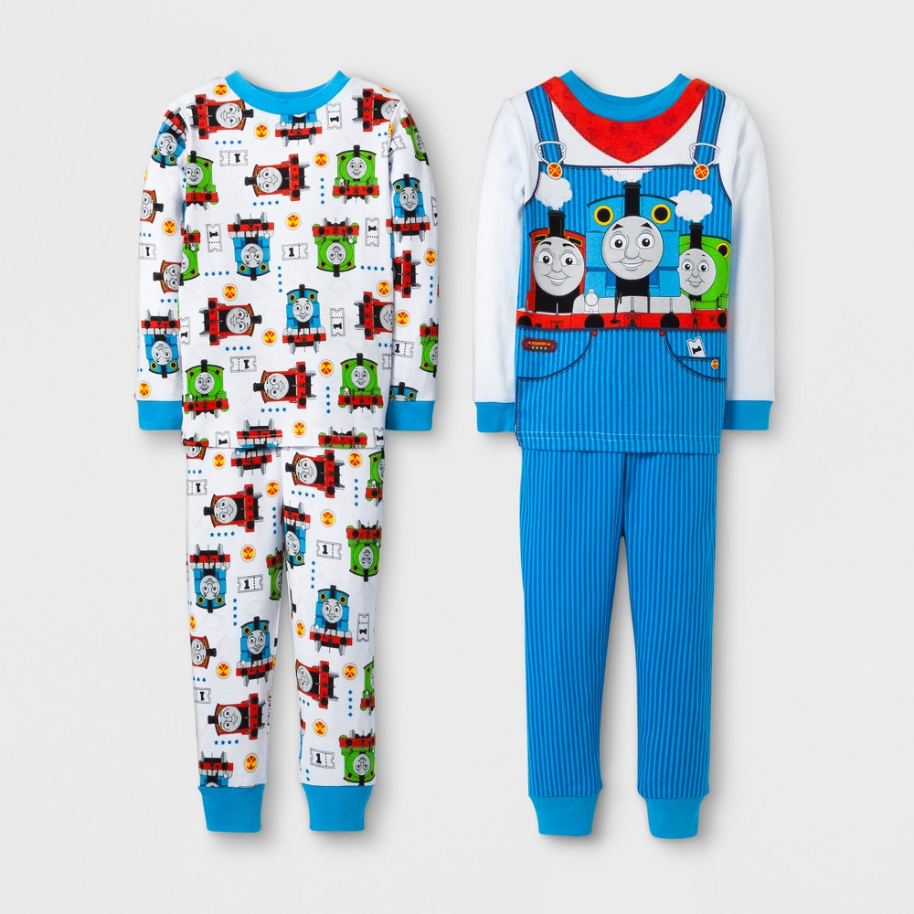 Toddler Boys 4pc Thomas & Friends Pajama Set - White 5T