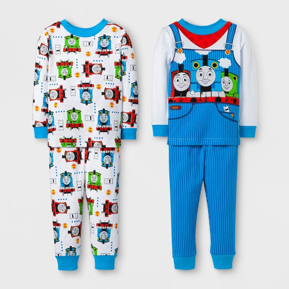Toddler Boys 4pc Thomas & Friends Pajama Set - White 12M, Size: 12 M