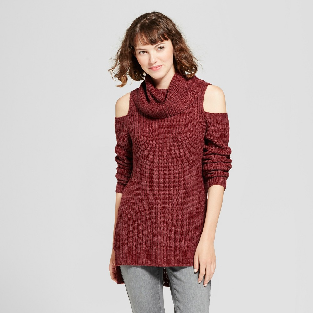 Womens Cold Shoulder Sweater - Mossimo Supply Co. Burgundy (Red) S