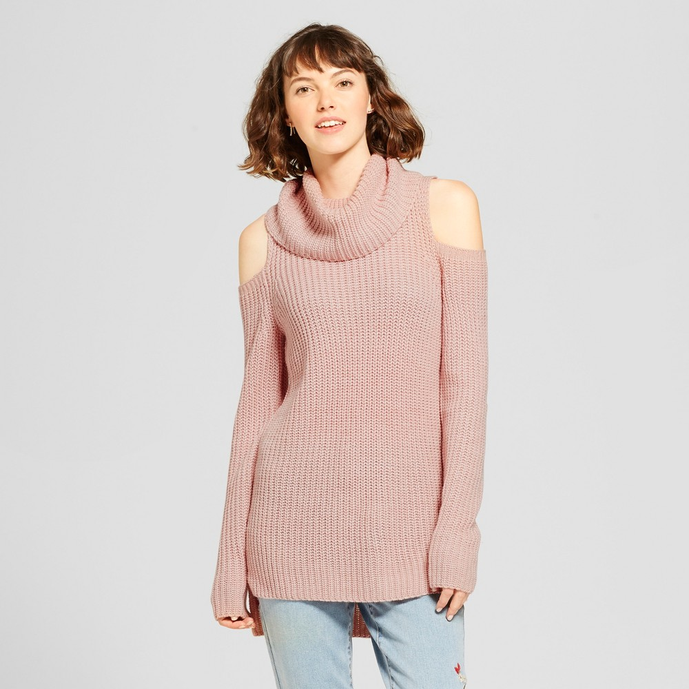 Womens Cold Shoulder Sweater - Mossimo Supply Co. Pink S