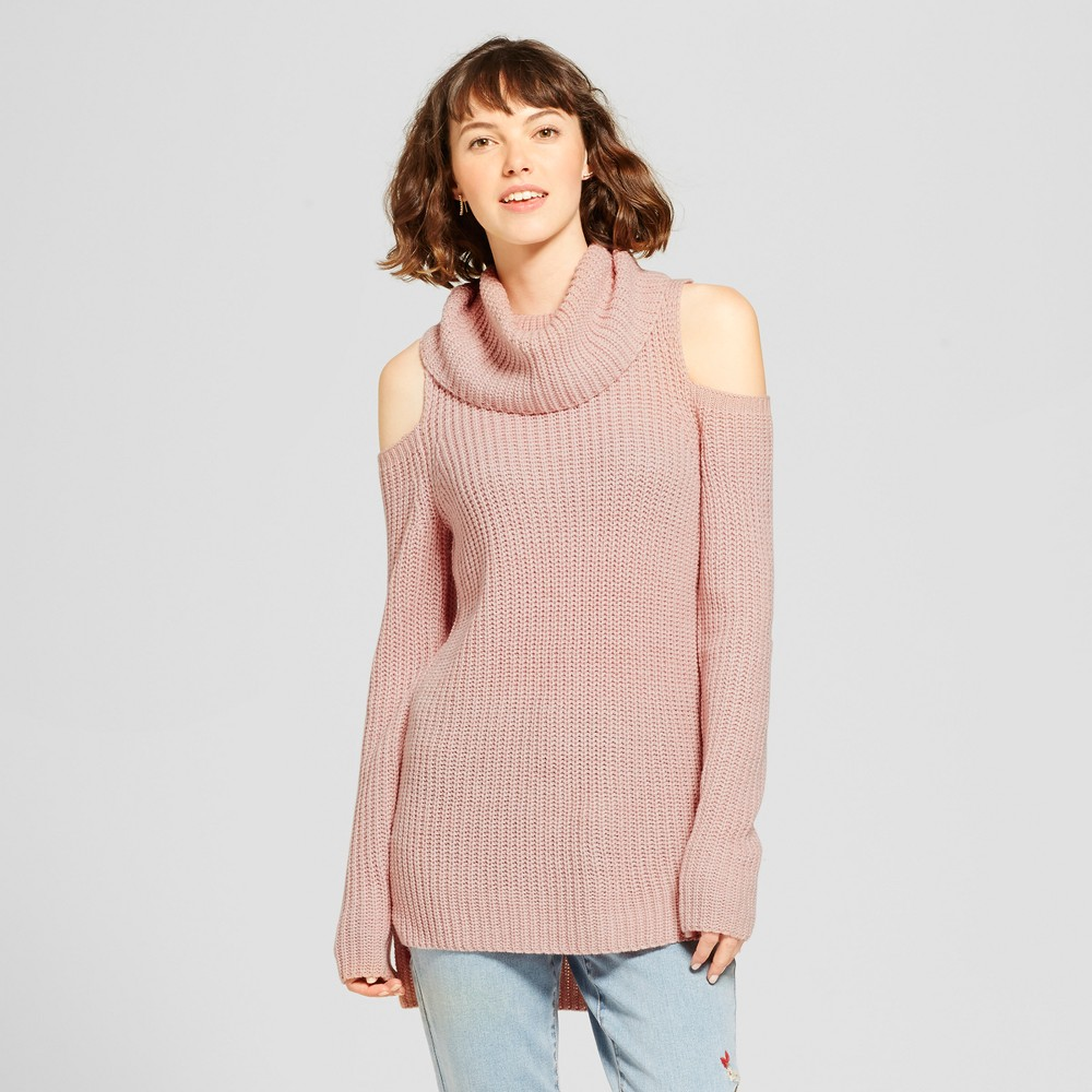 Womens Cold Shoulder Sweater - Mossimo Supply Co. Pink XL