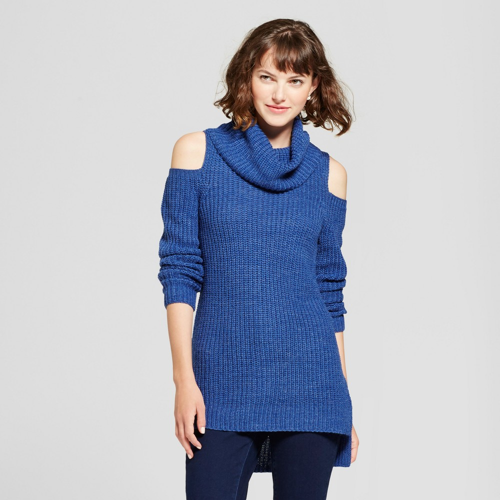 Womens Cold Shoulder Sweater - Mossimo Supply Co. Blue L