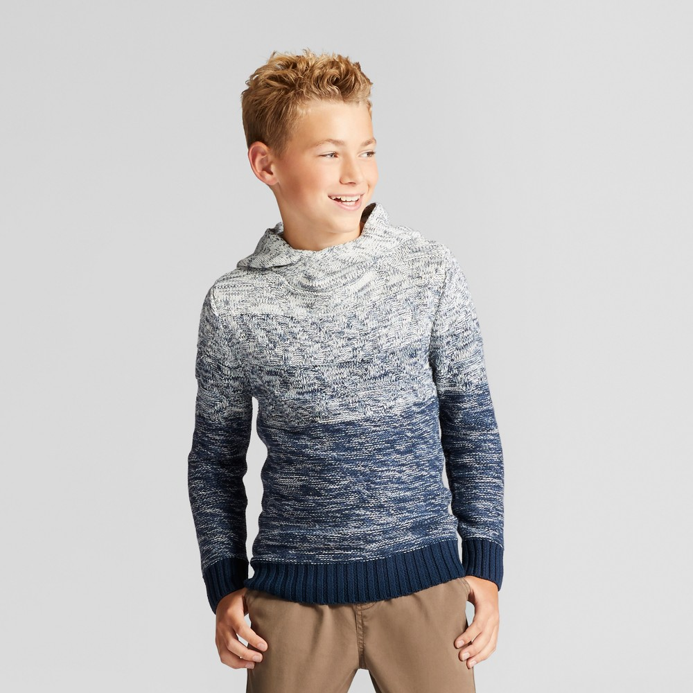 Boys Ombre Pullover Sweater - Cat & Jack Blue XL