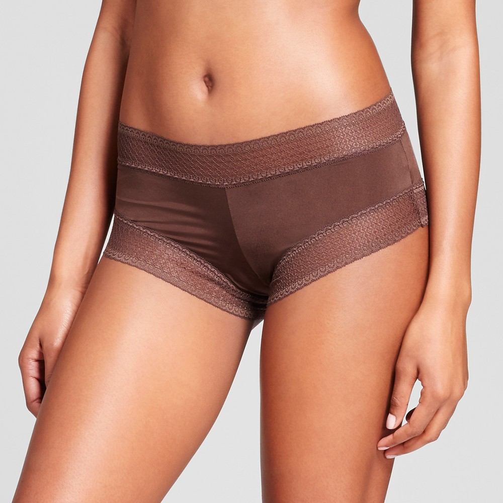 Womens All Over Lace Hipster - Coffee Bean M