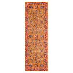 Floral Persian Mirella Orange Rug - nuLOOM