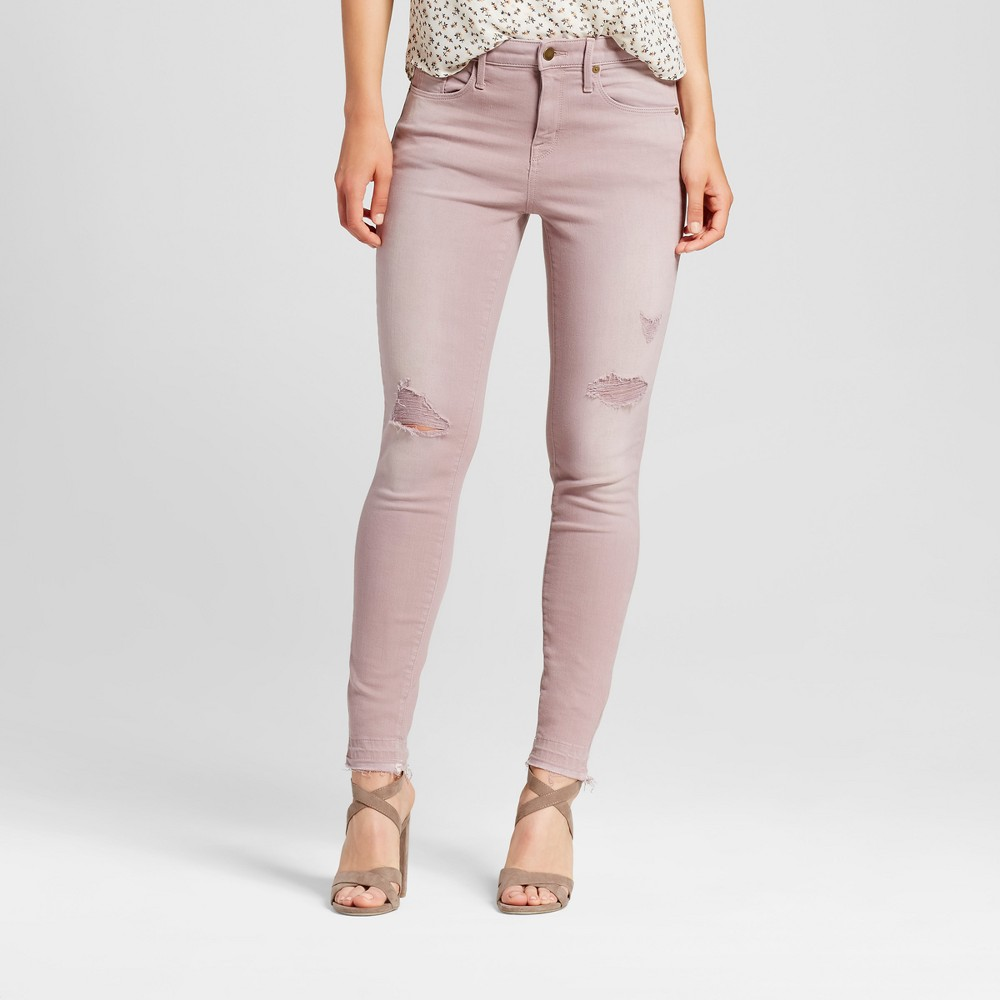 Womens Jeans High Rise Skinny - Mossimo Pink 10 Short, Size: 10Short