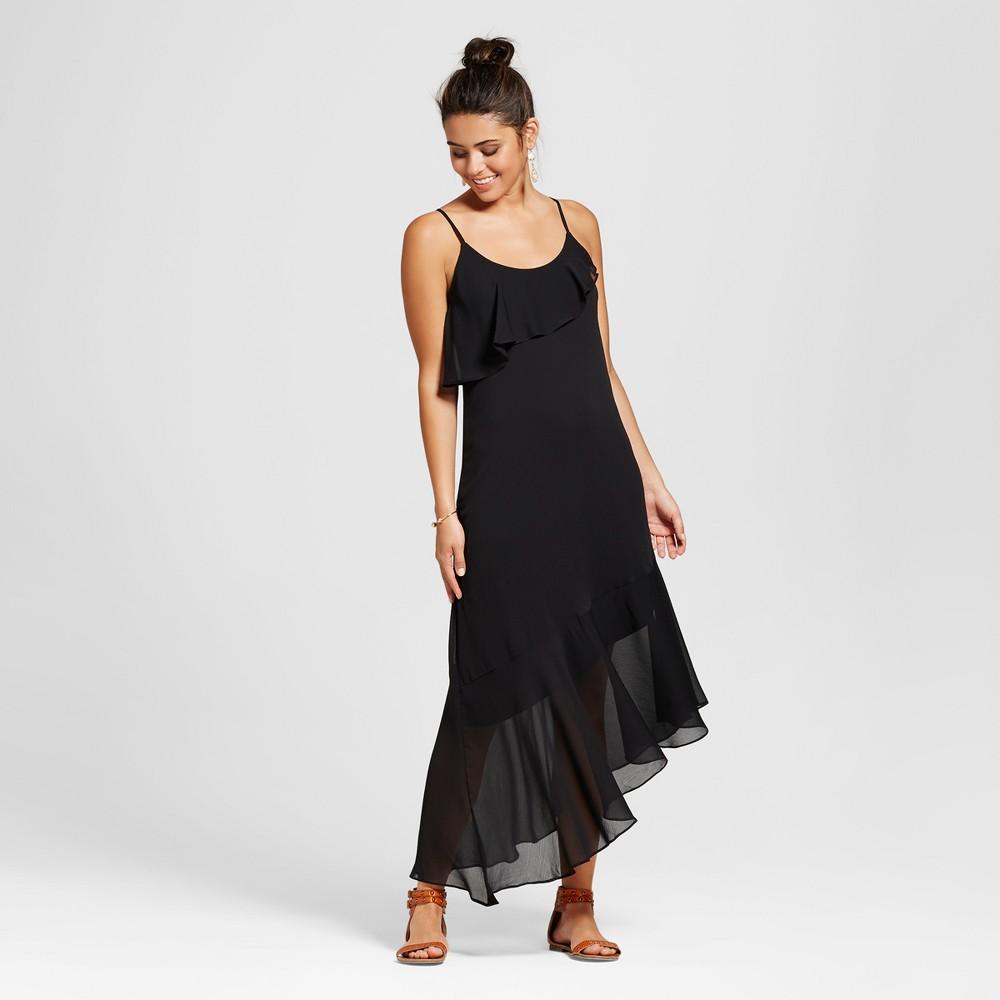 Womens Asymmetrical Maxi Dress - Xhilaration (Juniors) Black L