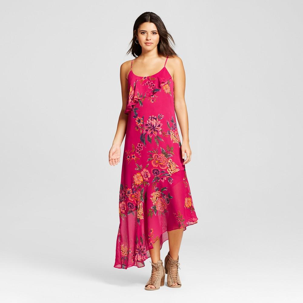 Women's Asymmetrical Maxi Dress - Xhilaration (Juniors') Berry (Pink) Xxl