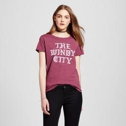 Women's Chicago Windy City T-Shirt - Burgundy (Juniors')