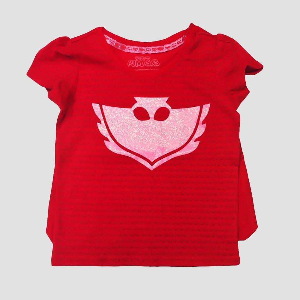 Toddler Girls PJ Masks Owlette T-Shirt - Red 2T