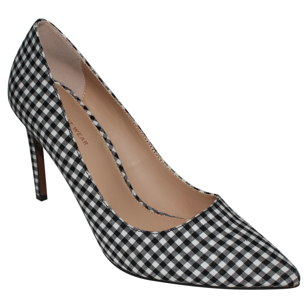 Womens Ally Printed Pumps Who What Wear - Black/White 8