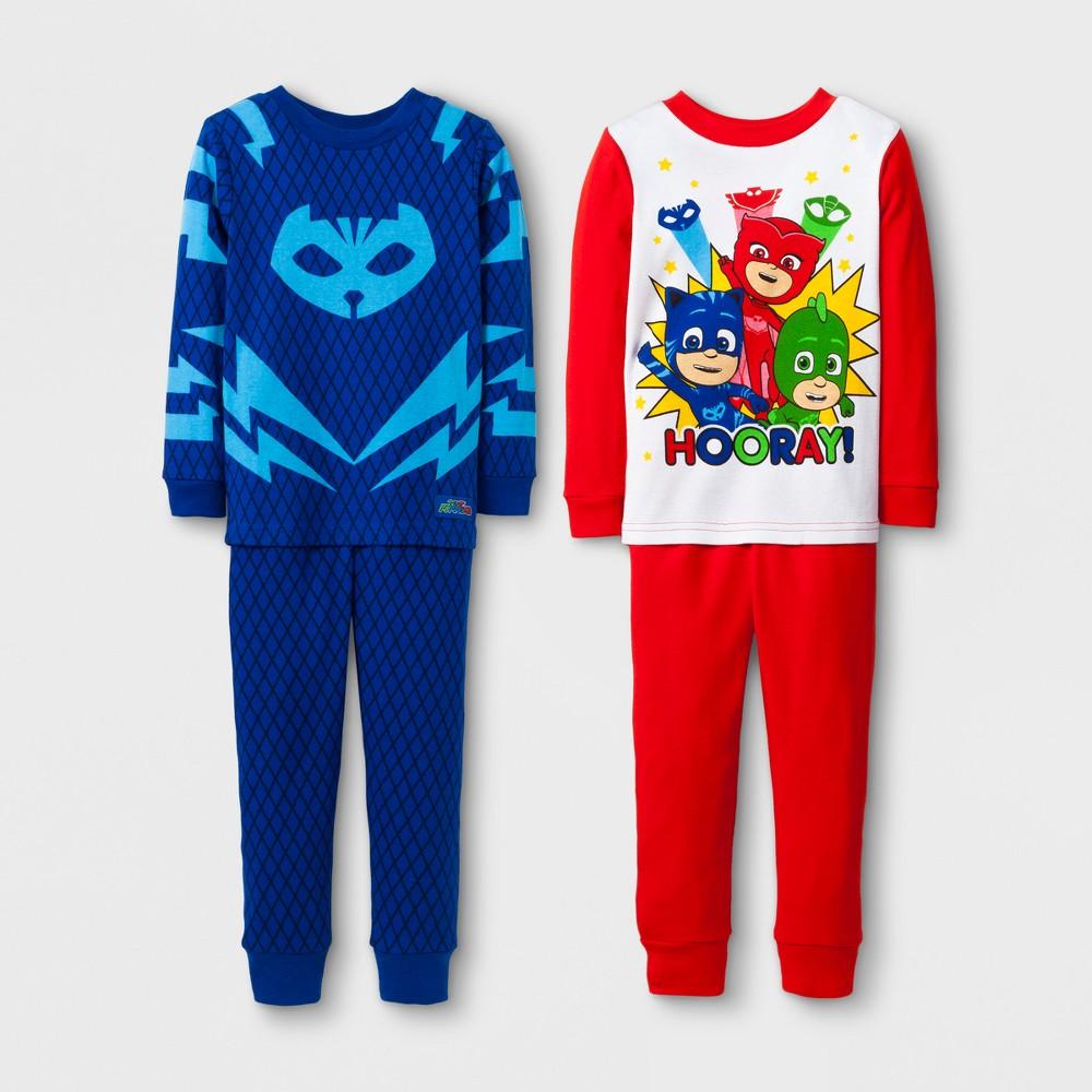 Toddler Boys 4pc PJ Masks Pajama Set - Red 2T