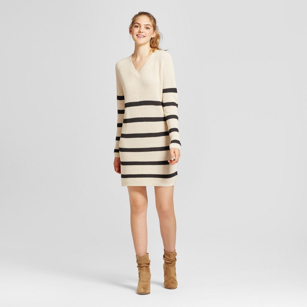 Womens Striped Sweater Dress - Mossimo Supply Co. Cream S, Beige