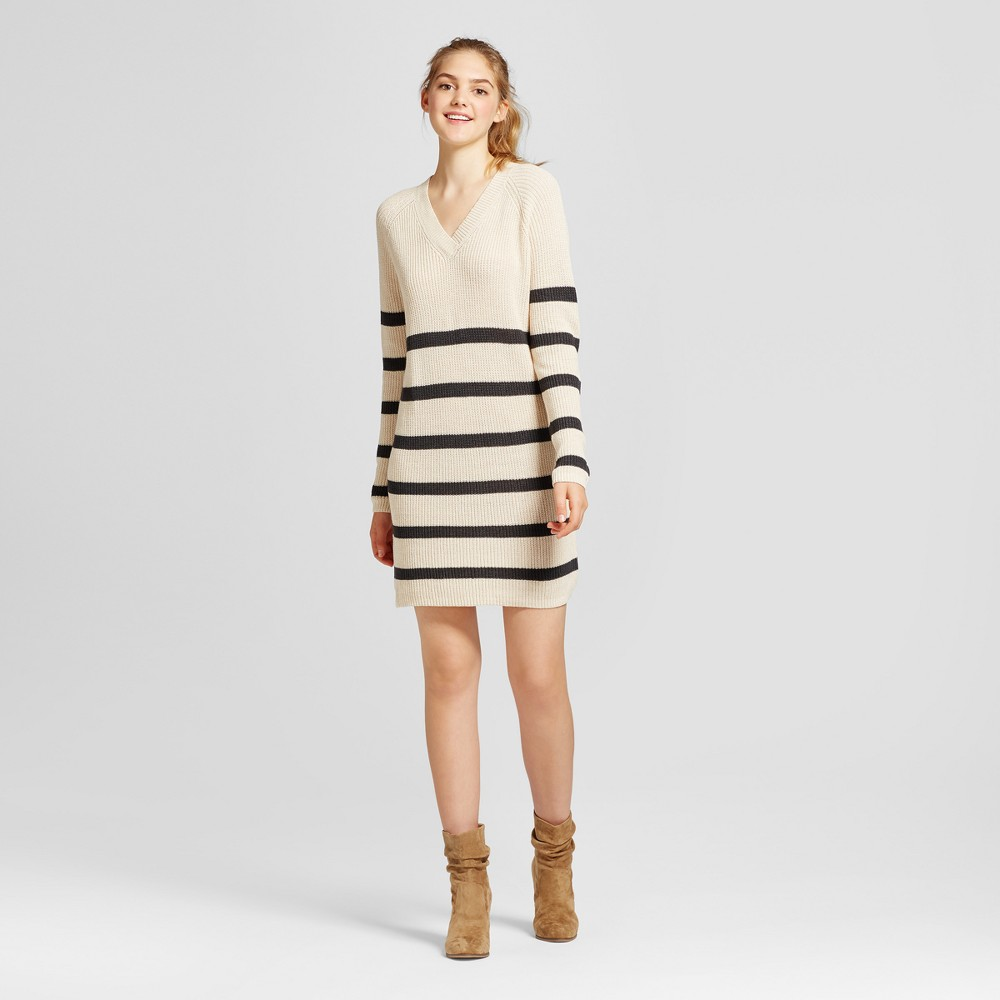 Womens Striped Sweater Dress - Mossimo Supply Co. Cream M, Beige