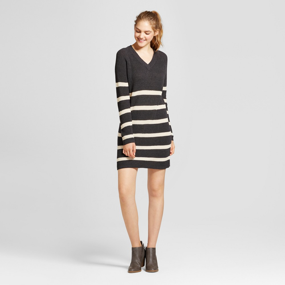 Womens Striped Sweater Dress - Mossimo Supply Co. Charcoal M, Gray