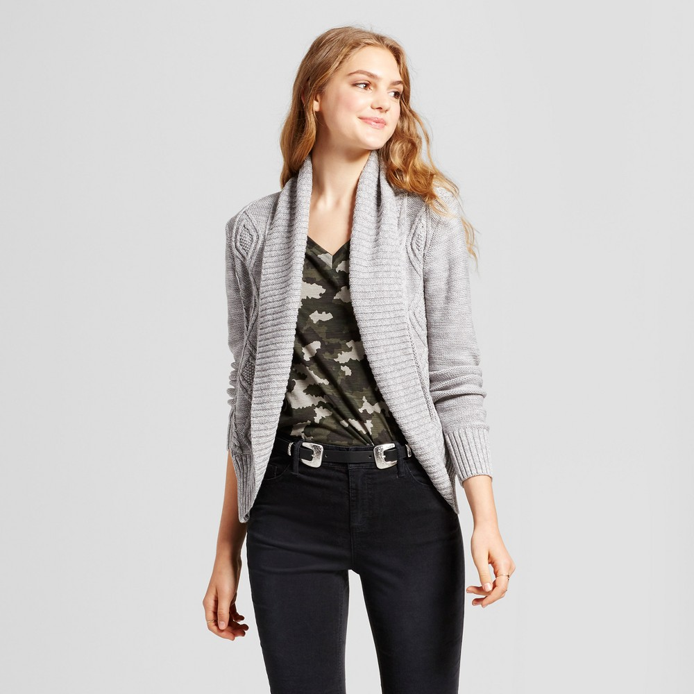 Womens Cable Knit Cocoon Cardigan - Mossimo Supply Co. Gray L