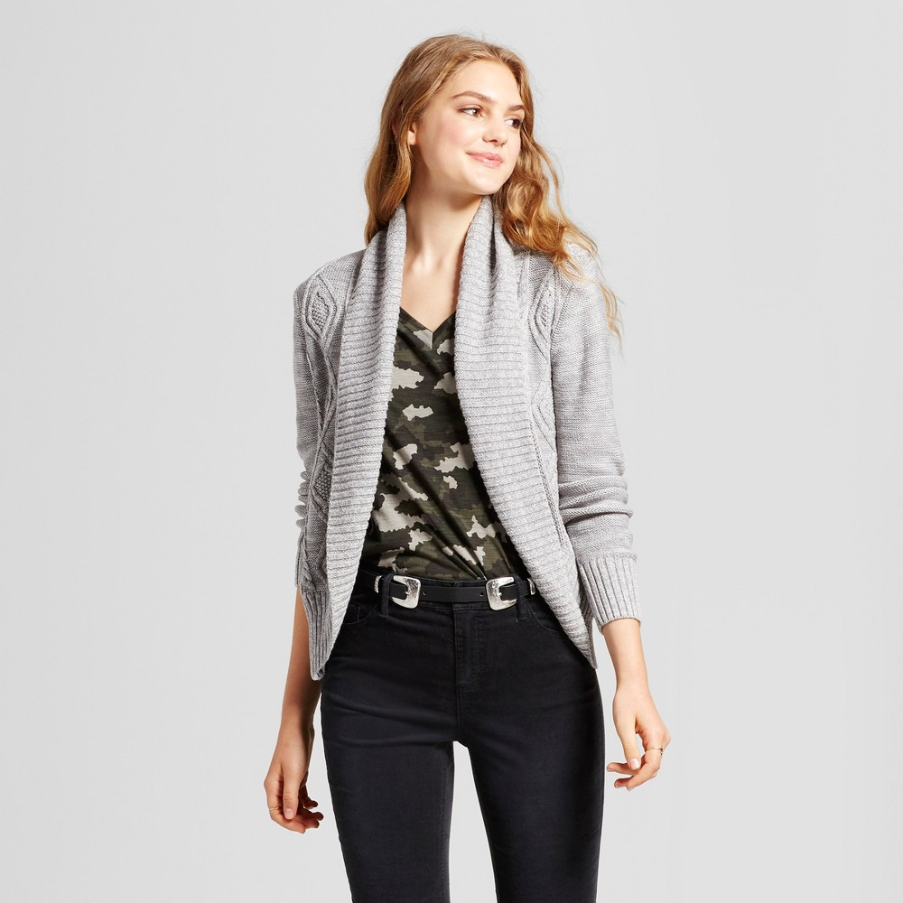 Womens Cable Knit Cocoon Cardigan - Mossimo Supply Co. Gray S