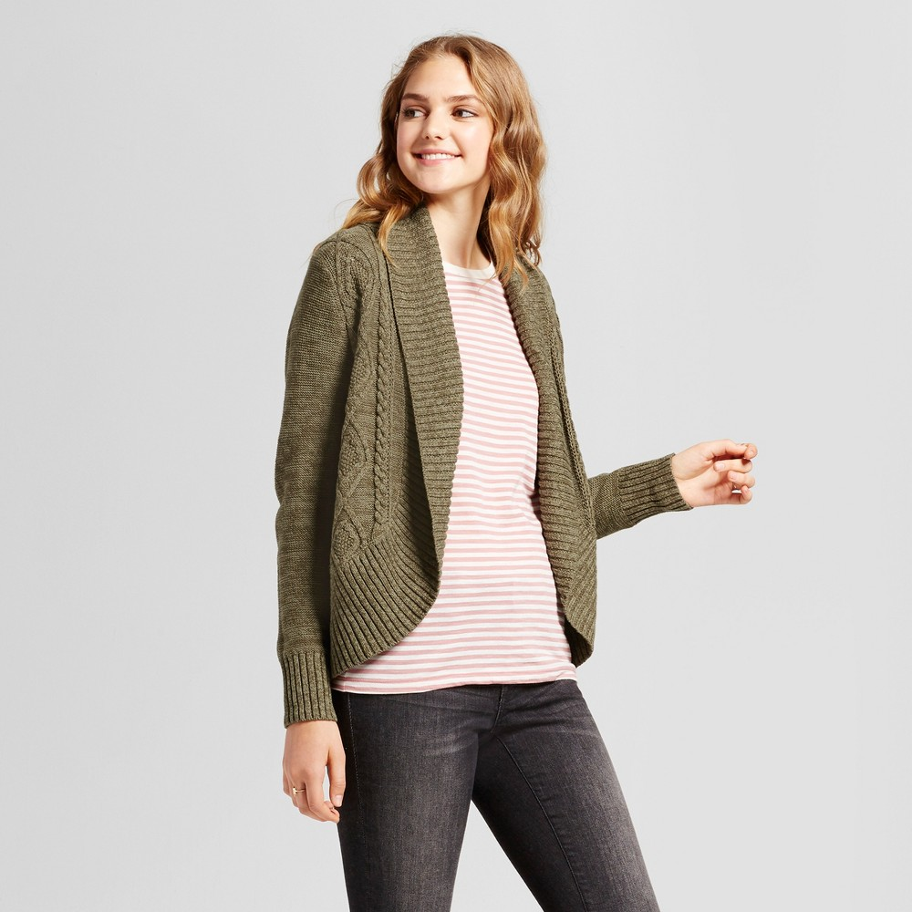 Womens Cable Knit Cocoon Cardigan - Mossimo Supply Co. Olive (Green) S