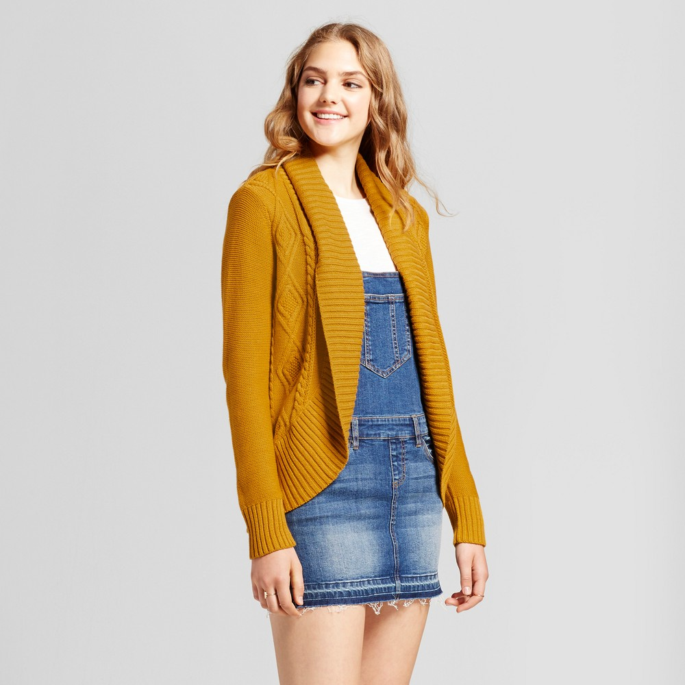 Womens Cable Knit Cocoon Cardigan - Mossimo Supply Co. Yellow M