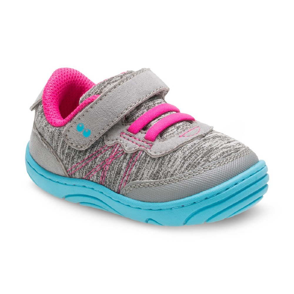 Girls Surprize by Stride Rite Christina Sneakers 4 - Gray, Blue Gray