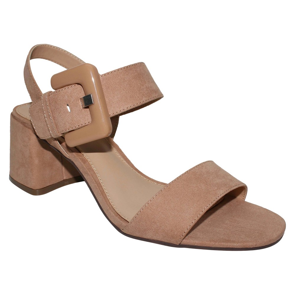 Womens Anastasia Buckle Strap Sandals Who What Wear - Nude 6