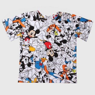 Disney® Toddler Boys' Mickey and Friends Short Sleeve T-Shirt - White 12M