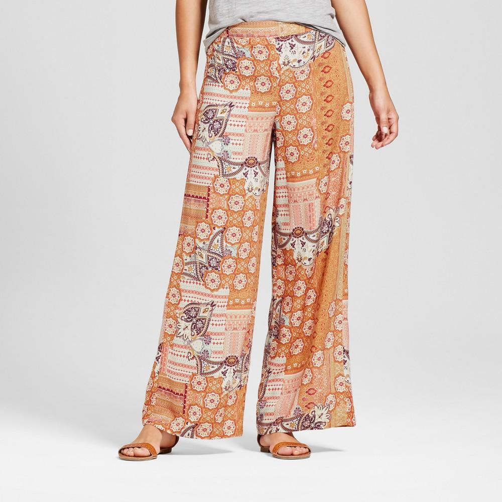 Womens Wide Leg Printed Pants - Xhilaration (Juniors) Gold L
