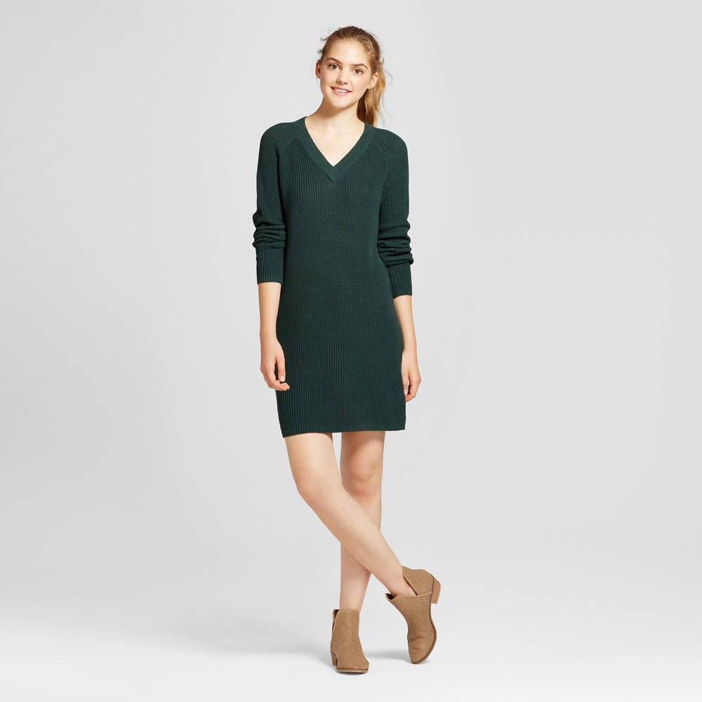 Womens Shaker Stitch Dress - Mossimo Supply Co. Green XS