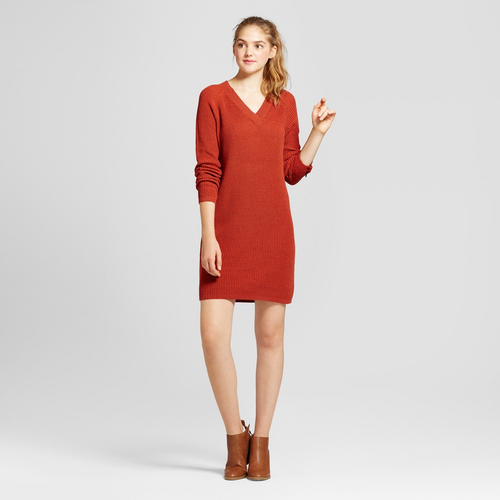 Womens Shaker Stitch Dress - Mossimo Supply Co. Rust (Red) XL