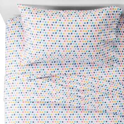 Pom Pom Flannel Sheet Set (Full)- Pillowfort™