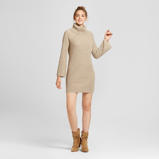 Women's Cowl Neck Sweater Dress - Mossimo Supply Co.™ Oatmeal : Target