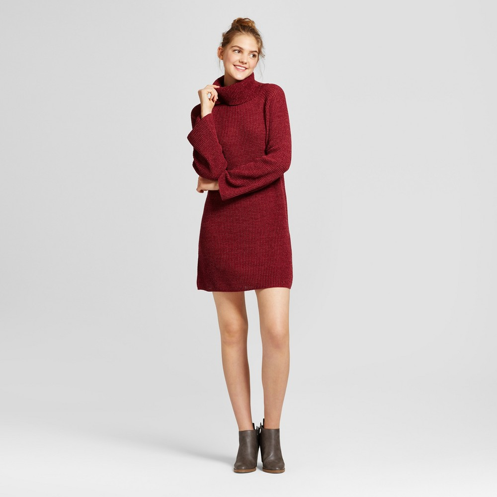 Womens Cowl Sweater Dress - Mossimo Supply Co. Burgundy (Red) S