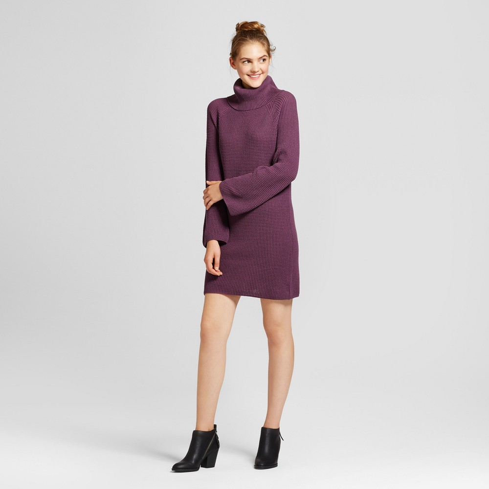 Womens Cowl Sweater Dress - Mossimo Supply Co. Purple XS