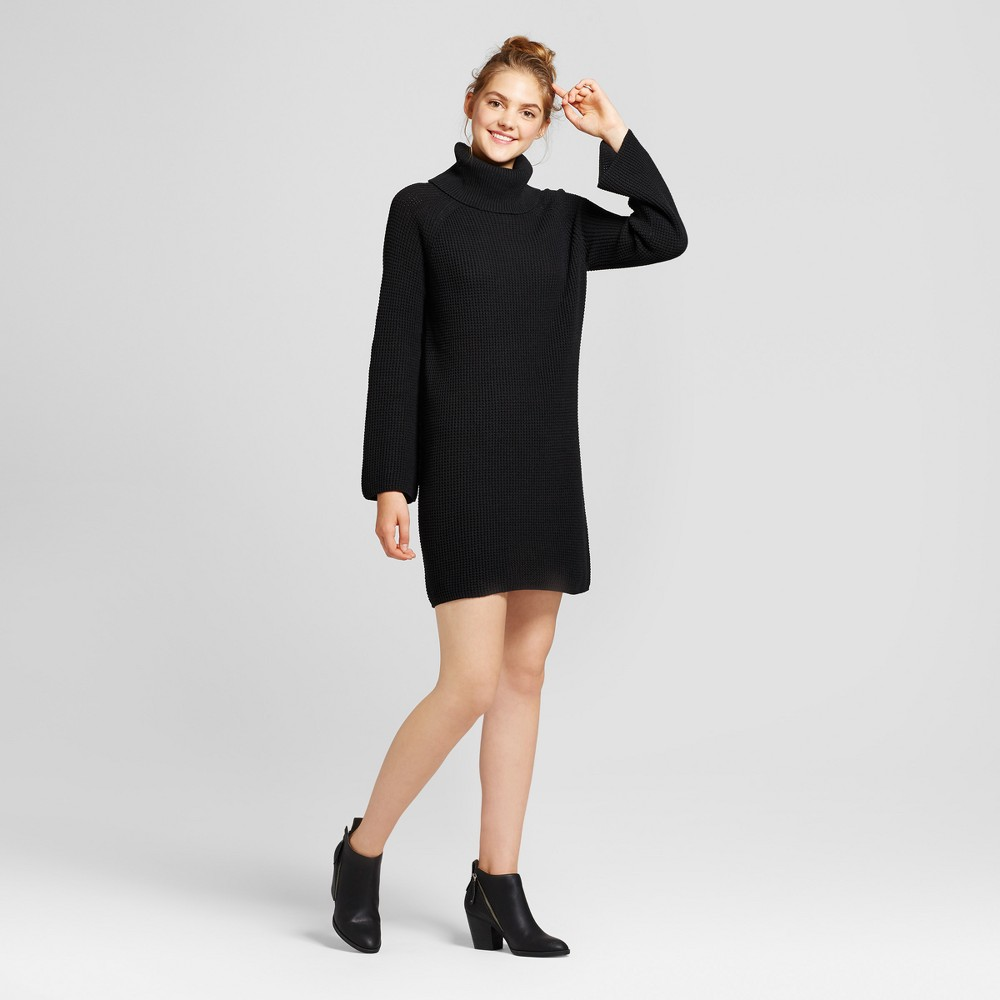 Womens Cowl Sweater Dress - Mossimo Supply Co. Black M