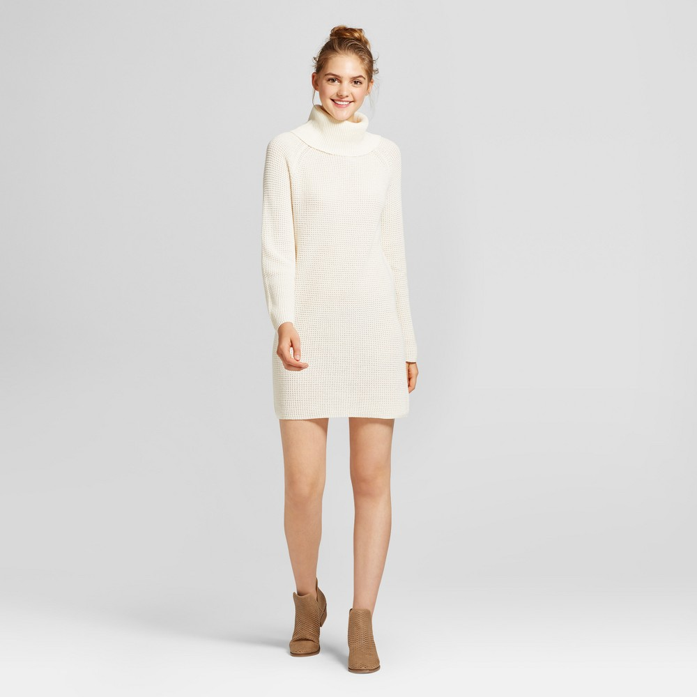 Womens Cowl Sweater Dress - Mossimo Supply Co. Cream (Ivory) XS