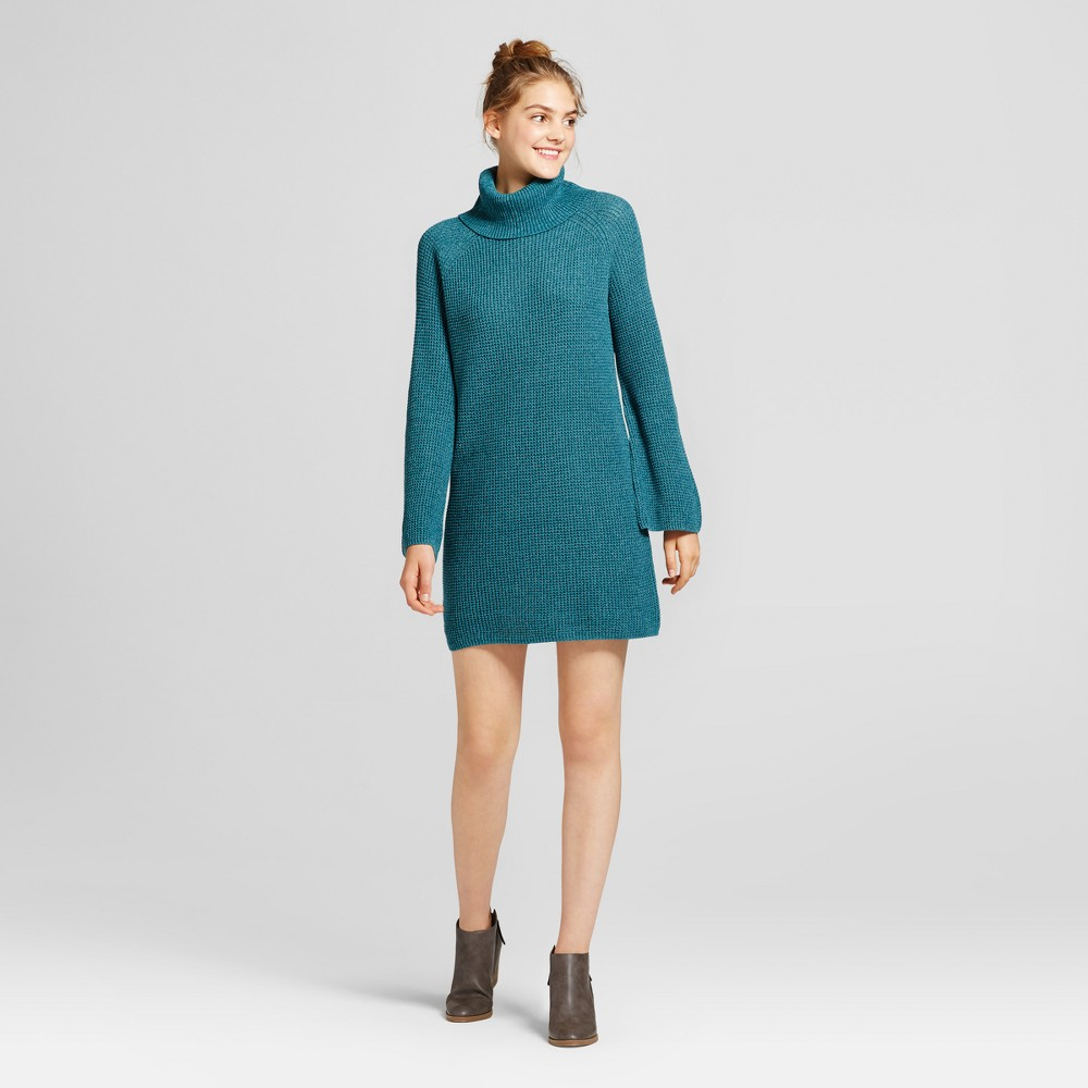 Womens Cowl Sweater Dress - Mossimo Supply Co. Teal (Blue) XL