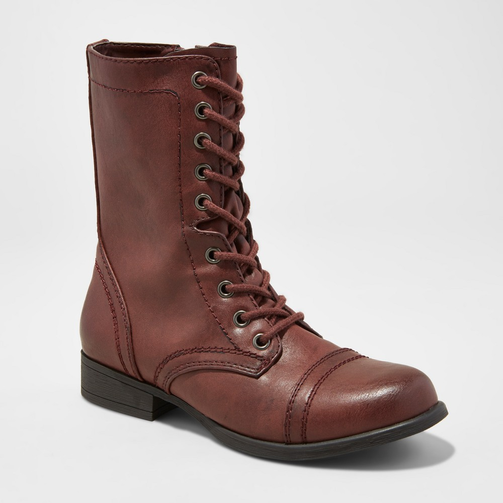 Womens Cassie Combat Boots - Mossimo Supply Co. Burgundy (Red) 9