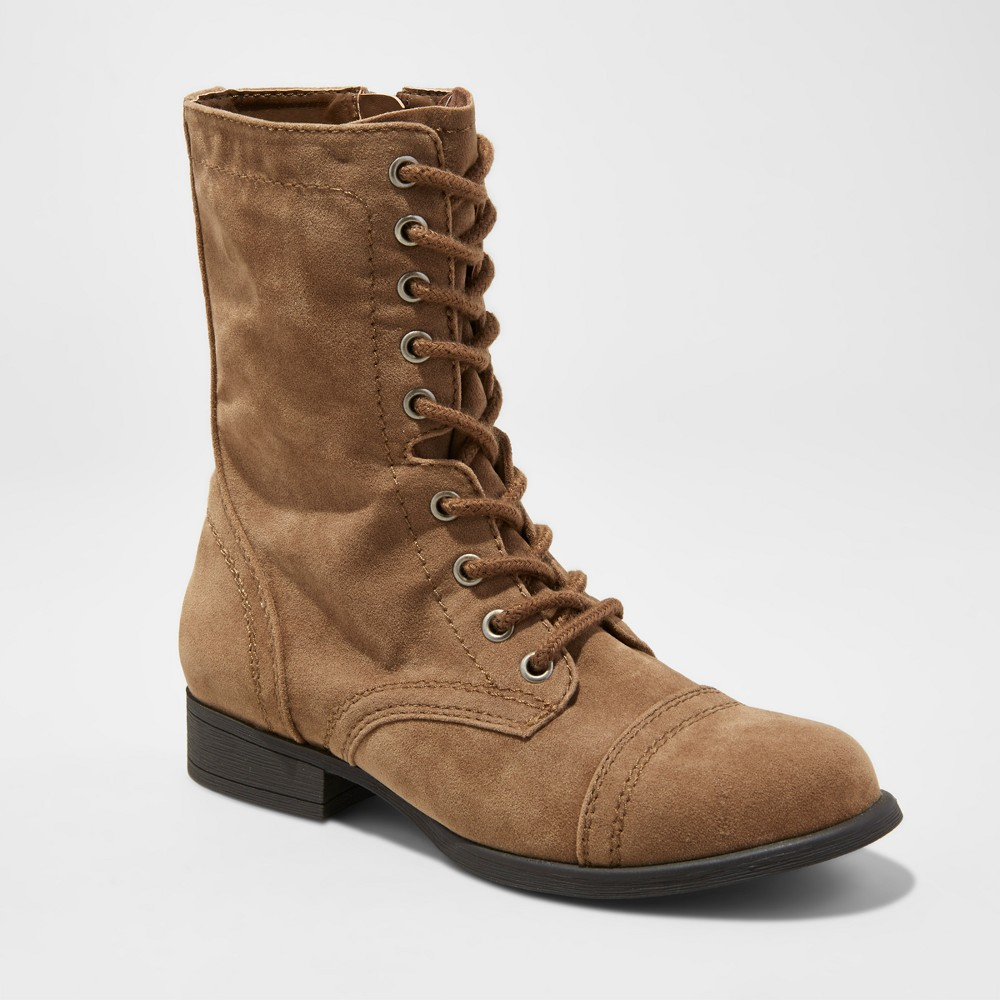 Womens Cassie Combat Boots - Mossimo Supply Co. Light Taupe 6.5