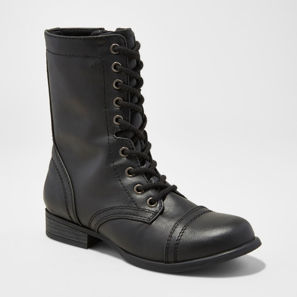 Womens Cassie Wide Width Combat Boots - Mossimo Supply Co. Black 10W, Size: 10 Wide