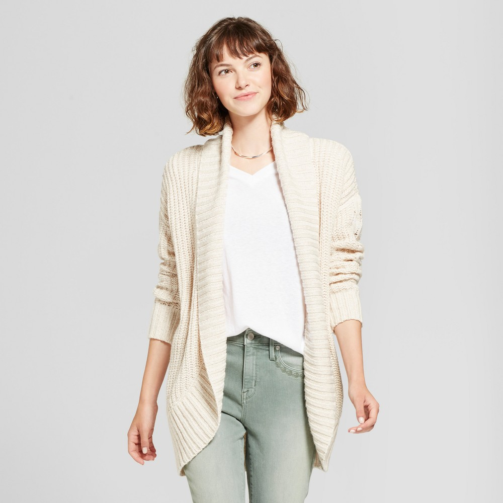 Womens Chunky Cocoon Cardigan - Mossimo Supply Co. Cream (Ivory) XS