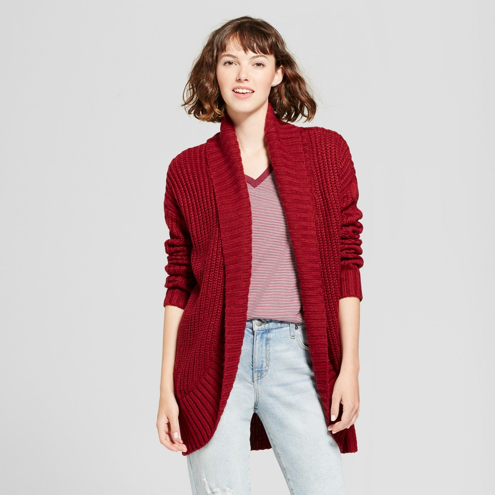 Womens Chunky Cocoon Cardigan - Mossimo Supply Co. Burgundy (Red) M