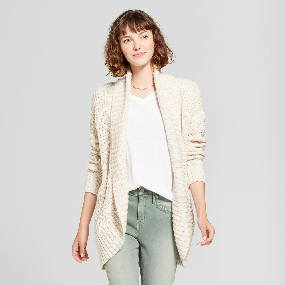 Womens Chunky Cocoon Cardigan - Mossimo Supply Co. Cream (Ivory) S