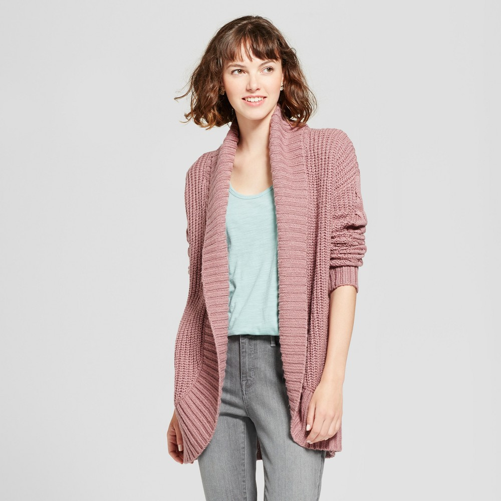 Womens Chunky Cocoon Cardigan - Mossimo Supply Co. Mauve (Pink) XS