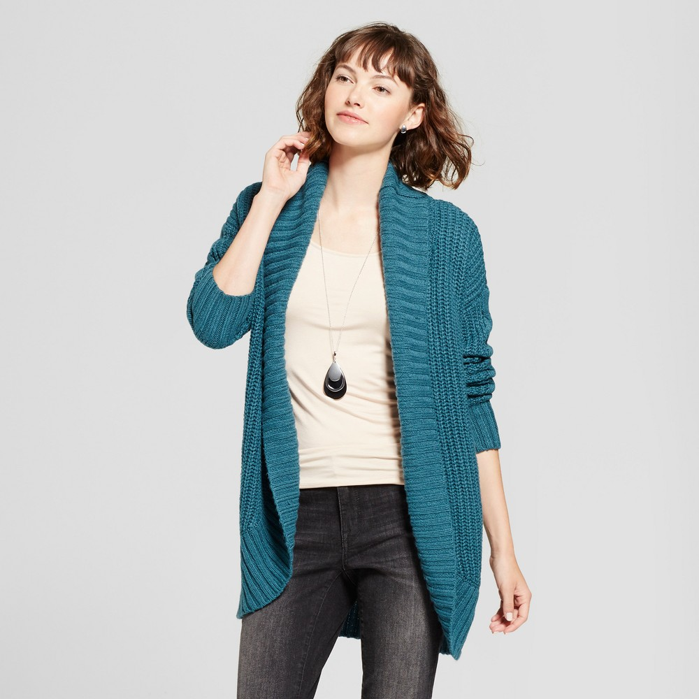 Womens Chunky Cocoon Cardigan - Mossimo Supply Co. Teal (Blue) XL