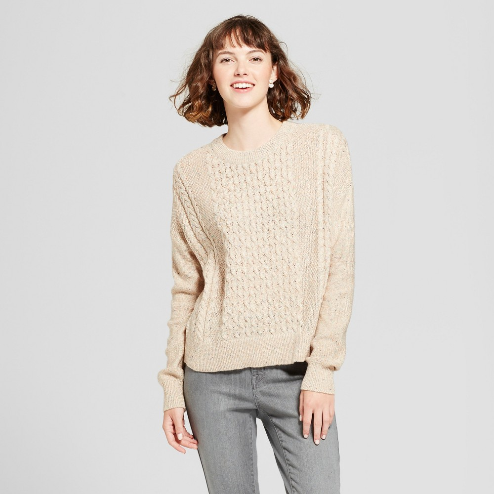 Womens Pullover Sweater - Mossimo Supply Co. Oatmeal S, Beige