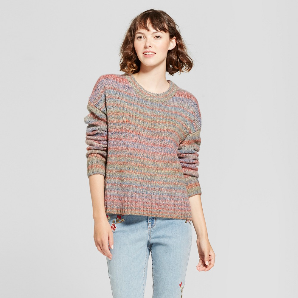 Womens Variegated Pullover Sweater - Mossimo Supply Co Pink M