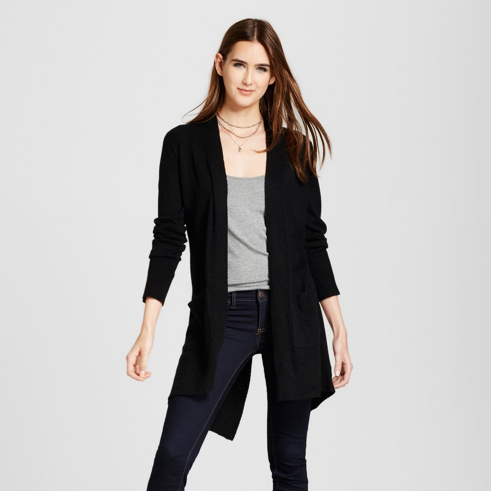 Womens Open Layering Cardigan with Envelope Back - Mossimo Black Xxl